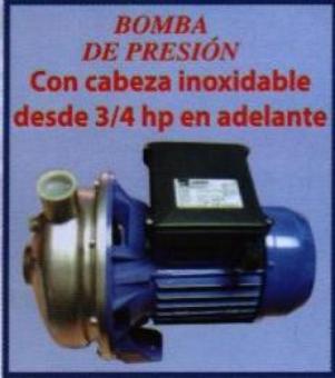 Comprar Bomba de presión con cabeza en acero inoxidable