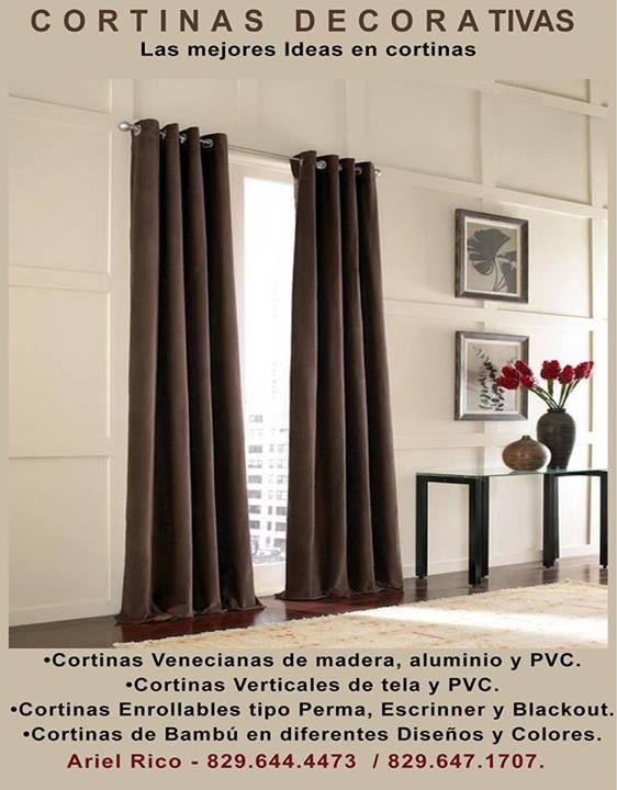 Cortinas Venecianas de madera, aluminio y PVC. •Cortinas Verticales ...