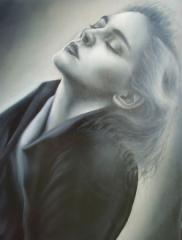 Retrato de Sharon, уleo/lienzo, 80x60 cm