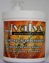 Crema laciadora permanente para cabello