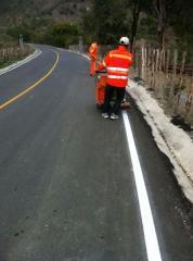 Pintura Vibraline para carreteras