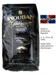 Cafe Dominicano Induban en grano 10 un. de 456 gramos