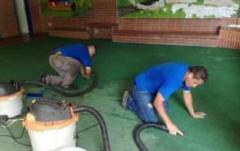 Limpieza del área de jardin